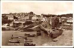 Postcard Newquay South West England, Harbour from the Pier, Hafenpartie