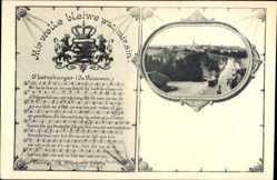 Lied Wappen Ak Luxemburg, D'LEtzeburger, Brücke, Mir welle bleiwe wat mir sin