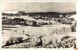 Ak Brückenberg b. Krummhübel Schlesien, Blick nach den Teichrändern