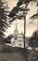 Postcard Hildesheim in Niedersachsen, Partie am Kehrwiederwall, Kirche