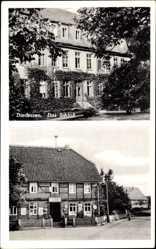 Postcard Diedersen in Niedersachsen, Ansicht vom Schloss und Gasthof Im Stern, Kater