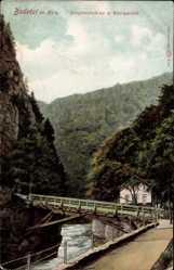 Postcard Treseburg Thale im Harz, Jungfernbrücke und Königsuhe