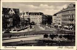 Postcard Braunschweig in Niedersachsen, Blick auf den Adolf Hitler Platz