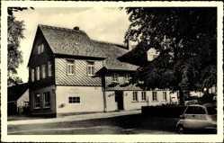 Postcard Dassel in Niedersachsen, Waldgaststätte Grüner Jäger, Inhaber Hermann Meyer