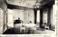 Postcard Hamburg Mitte Altstadt, Im Damensalon des Palast Hotels, Musiksaal