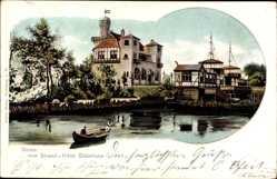 Postcard Steinhude Wunstorf, Blick vom Wasser auf das Strand Hotel