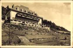 Postcard Saalburg Ebersdorf in Thüringen, Kurhaus Fürstenhöhe, Besitzer Mutschmann