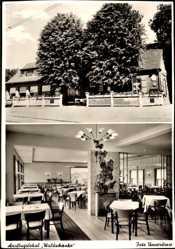 Postcard Wesel am Niederrhein, Lokal Waldschenke, Inh. P. Schrörs, Innenansicht