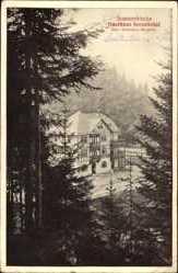 Postcard Lichtentanne Probstzella, Gasthaus Sormitztal, Inh. A. Bergner, Fachwerk