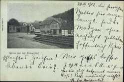 Postcard Reyershausen Bovenden, Rodemühle, Gasthaus Rodethal, Baumstämme