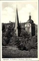 Postcard Lichtenfels im Obermainland Oberfranken, Stadtturm, Pfarrkirche, Schloss Banz