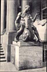 Ak Neue Bronzegruppe von Professor Wrba, Dionysos