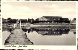 Postcard Stein Probstei, Wasserblick zum Hotel Stein, Ostseebad
