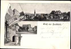 Postcard Henfenfeld Mittelfranken, Stadttor, Gesamtansicht, Kirchturm
