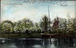 Postcard Jork im Kreis Stade, Kirschenland, Altenland, Fischerboot
