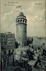 Postcard Konstantinopel Istanbul Türkei, Tour de Galata, Turm