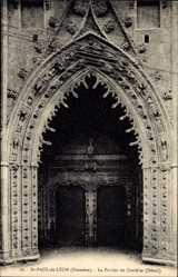 Postcard St. Paul de Léon Finistère, Le Porche du Creisker