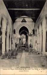Postcard Pont Croix Finistère, Intérieur de l'Église ND de Roscudon