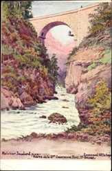 Künstler Ak Jaubert, Melchior,Isère,Route de la Grande Chartreuse,Pont St. Bruno