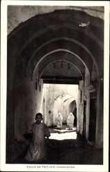 Postcard Tetuan Tétouan Marokko, Calle, Marruecos, Tordurchblick, Marokkaner