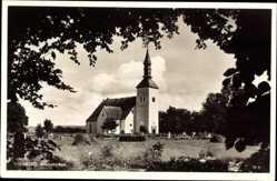 Postcard Visingsö Schweden, Brabekyrkan, Ansicht der Kirche