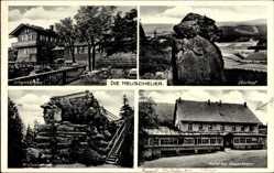 Ak Schlesien, Heuscheuer, Eberkopf, Hotel zur Heuscheuer, Schweizerhaus