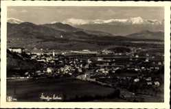 Foto Ak Skofja Loka Bischoflack Slowenien, Panorama vom Ort