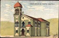 Künstler Ak Testo Salto Brasilien, Nova Igreja, Neue Kirche