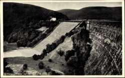 Postcard Gemünd Schleiden in der Eifel, Blick auf die Urfttalsperrmauer