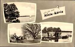 Postcard Klein Köris Groß Köris im Kreis Dahme Spreewald, Seepartie, Segelboot, Straße