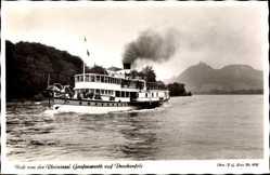 Postcard Bad Honnef im Rhein Sieg Kreis, Blick von der Rheininsel Grafenwerth