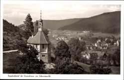 Postcard Friedrichstal im Schwarzwald, Blick auf den Ort, Kirche, Wald