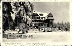 Postcard Ilmenau im Ilm Kreis Thüringen, Blick auf das Kurhaus Berghotel Gabelbach