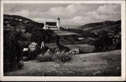 Postcard Bühlertal Obertal im Tal des Sandbachs Baden Württemberg, Neue Kirche