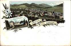 Litho Bad Laasphe im Kreis Siegen Wittgenstein, Schloss Wittgenstein, Totale