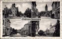 Postcard Odenkirchen Mönchengladbach im Ruhrgebiet, Straßenpartie, Rathaus, Kirche