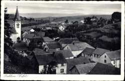Postcard Dahlem in der Eifel, Blick auf den Ort, Dächer, Kirchturm