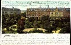 Ak Döbeln Sachsen, Blick auf den Wettinplatz, Grünanlagen