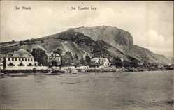 Postcard Erpel Rheinland Pfalz, Rhein, Die Erpeley Ley, Felsen, Ort