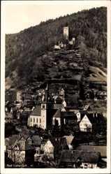 Postcard Bad Liebenzell im Schwarzwald, Blick auf den Ort, Ruine, Kirche