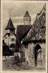 Postcard Dinkelsbühl im Kreis Ansbach Mittelfranken,Kapuzinerweg mit Dreikönigskapelle