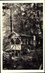 Postcard Berchtesgaden in Oberbayern, Kalter Keller, Holzhaus im Wald