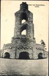 Postcard Aachen in Nordrhein Westfalen, Blick auf den Bismarckturm, Platz