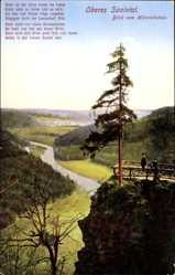 Postcard Schönbrunn Saalburg Ebersdorf, Oberes Saaletal, Blick vom Heinrichstein