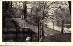 Postcard Burgsteinfurt Steinfurt in Nordrhein Westfalen, Kettenbrücke, Park Bagno
