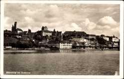 Postcard Meersburg im Bodenseekreis Baden Württemberg, Blick auf den Ort