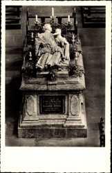 Postcard Kall in Eifel in Nordrhein Westfalen, Salvatorianerkolleg, Hermann Josef Grab