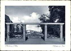 Postcard Oldenburg in Niedersachsen, Blick auf die Anlagen am Stau, Passage