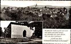 Postcard Endersbach Weinstadt, Stadtpanorama, Tor, Eingang, Gebäude, Turm