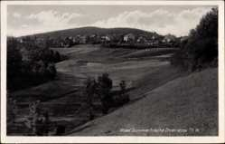 Postcard Öhrenstock Langewiesen, Stadtpanorama, Wald, Felder, Berge